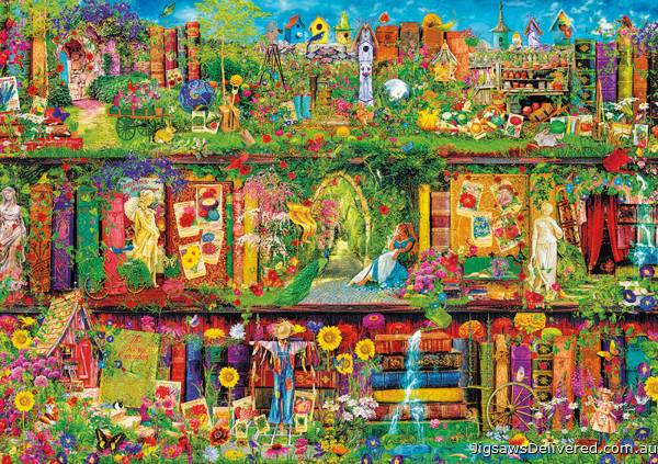 The Garden Shelf (EDU16766), a 1500 piece jigsaw puzzle by Educa.