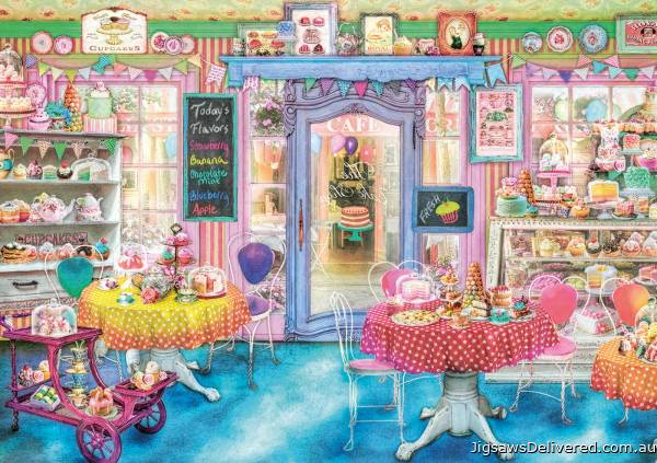 Cake Shop (EDU16769), a 1500 piece jigsaw puzzle by Educa.