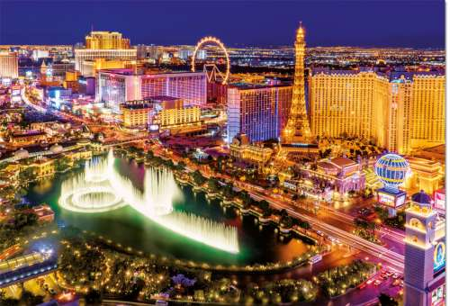 Las Vegas (Glow in the Dark) (EDU16761), a 1000 piece jigsaw puzzle by Educa. Click to view larger image.