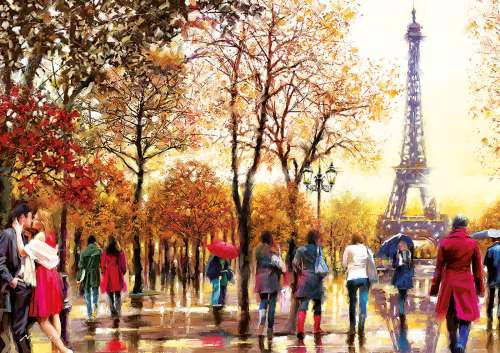 Eiffel Tower (Large Pieces) (EDU16745), a 300 piece jigsaw puzzle by Educa. Click to view larger image.