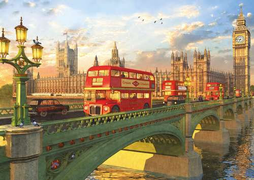 Westminster Bridge, London (EDU16777), a 2000 piece jigsaw puzzle by Educa. Click to view larger image.
