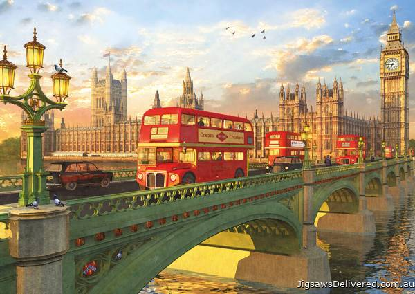 Westminster Bridge, London (EDU16777), a 2000 piece jigsaw puzzle by Educa.