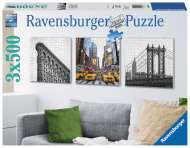 New York Impressions (3 x 500pc) (RB19923-5), a 500 piece Ravensburger jigsaw puzzle.