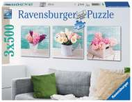 Floral Delights (3 x 500pc) (RB19922-8), a 500 piece Ravensburger jigsaw puzzle.