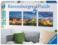 Alhambra at Twilight (3 x 500pc) (RB19918-1), a 500 piece Ravensburger jigsaw puzzle.