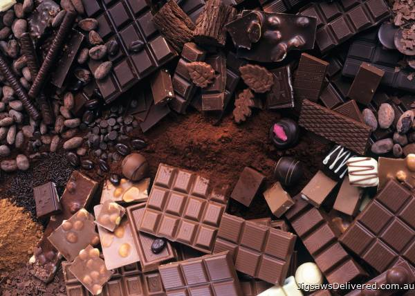 Chocolate (RB19614-2), a 1000 piece jigsaw puzzle by Ravensburger.