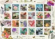 Floral Stamp Collection (RB19607-4), a 1000 piece Ravensburger jigsaw puzzle.