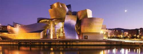 Guggenheim, Bilbao Spain (RB15072-4), a 1000 piece jigsaw puzzle by Ravensburger. Click to view larger image.
