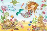 Junior Mermaid (Giant Floor Puzzle) (RB05396-4), a 24 piece Ravensburger jigsaw puzzle.
