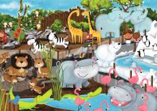 Day at the Zoo (RB08778-5), a 35 piece Ravensburger jigsaw puzzle.