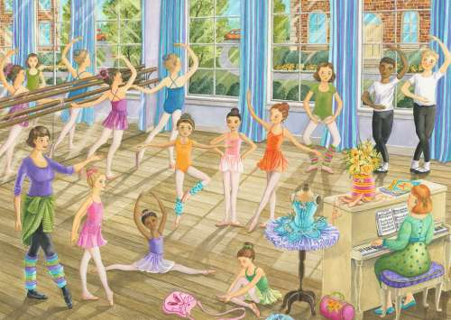 Ballet Lesson (RB08779-2), a 35 piece jigsaw puzzle by Ravensburger. Click to view larger image.