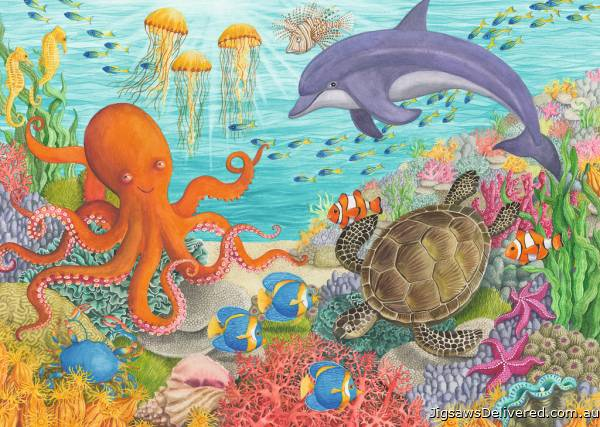 Ocean Friends (RB08780-8), a 35 piece jigsaw puzzle by Ravensburger.