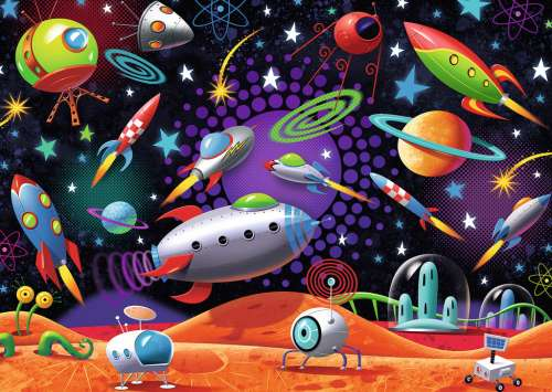 Space (RB08782-2), a 35 piece jigsaw puzzle by Ravensburger. Click to view larger image.