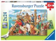 Pirates (2 x 24pc) (RB09019-8), a 24 piece Ravensburger jigsaw puzzle.