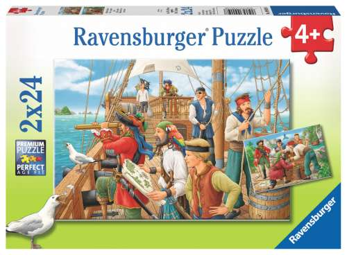 Pirates (2 x 24pc) (RB09019-8), a 24 piece jigsaw puzzle by Ravensburger. Click to view larger image.