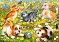 Cats and Dogs (RB09624-4), a 60 piece Ravensburger jigsaw puzzle.