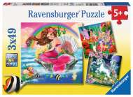 Mythical Creatures (3 x 49pc) (RB09367-0), a 49 piece Ravensburger jigsaw puzzle.
