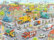 Vehicles in the City (RB10558-8), a 100 piece Ravensburger jigsaw puzzle.