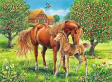 Horses in the Field (RB10577-9), a 100 piece Ravensburger jigsaw puzzle.