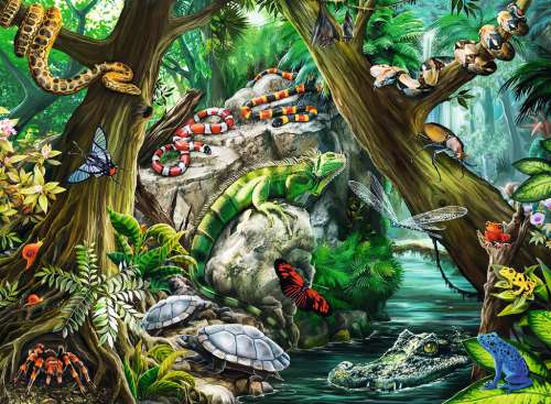 Creepy Crawlies (RB10703-2), a 100 piece jigsaw puzzle by Ravensburger. Click to view larger image.