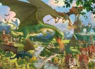Dragons on Tour (RB10022-4), a 150 piece Ravensburger jigsaw puzzle.