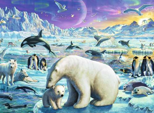 Meet the Polar Animals (RB13203-4), a 300 piece jigsaw puzzle by Ravensburger. Click to view larger image.