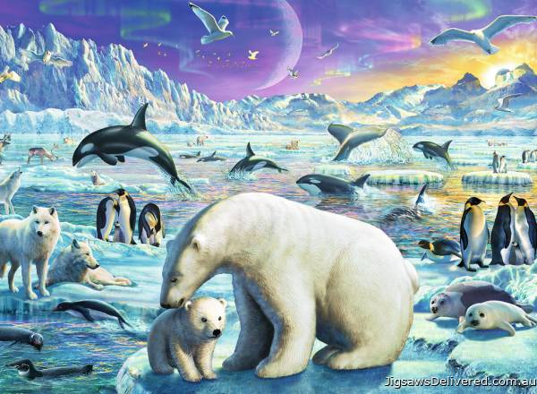 Meet the Polar Animals (RB13203-4), a 300 piece jigsaw puzzle by Ravensburger.
