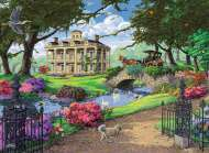 Visiting the Mansion (RB14690-1), a 500 piece Ravensburger jigsaw puzzle.