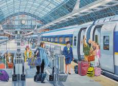 Eurostar at St. Pancras. Click to view this product