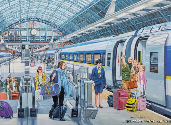 Eurostar at St. Pancras (RB14694-9), a 500 piece jigsaw puzzle by Ravensburger.