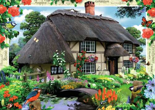 River Cottage (RB19022-5), a 1000 piece jigsaw puzzle by Ravensburger. Click to view larger image.