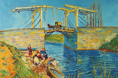 Bridge at Arles (RB17065-4), a 3000 piece jigsaw puzzle by Ravensburger. Click to view larger image.