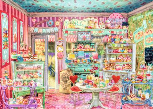 The Candy Shop (RB19599-2), a 1000 piece jigsaw puzzle by Ravensburger. Click to view larger image.