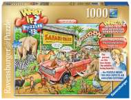 Safari Park (WHAT IF? #13) (RB19550-3), a 1000 piece Ravensburger jigsaw puzzle.