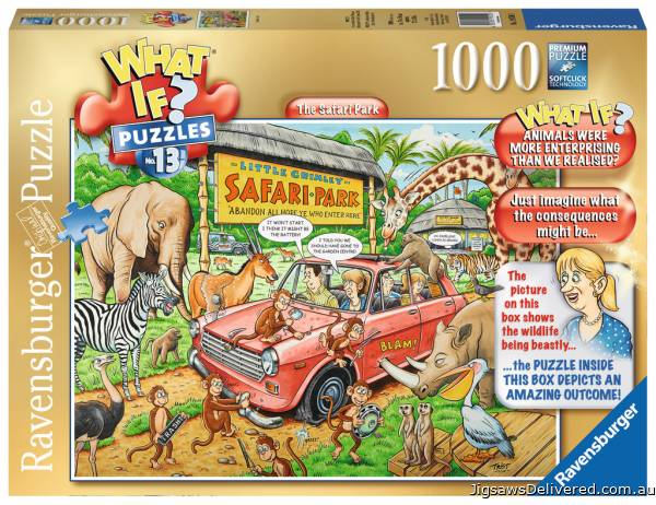 Safari Park (WHAT IF? #13) (RB19550-3), a 1000 piece jigsaw puzzle by Ravensburger.