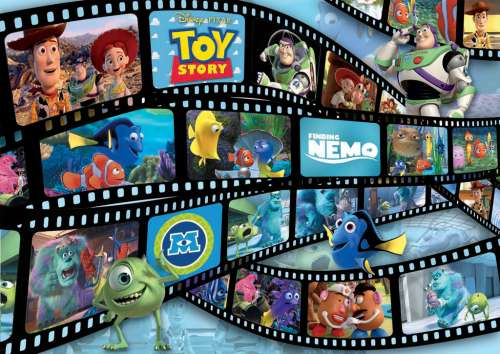 Disney Pixar Movies (RB19604-3), a 1000 piece jigsaw puzzle by Ravensburger. Click to view larger image.