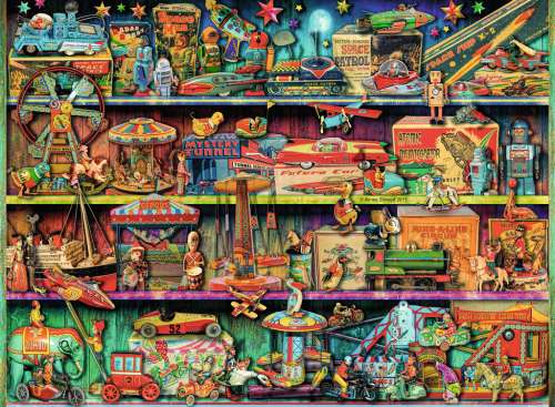 Toy Wonderama (RB14714-4), a 500 piece jigsaw puzzle by Ravensburger. Click to view larger image.