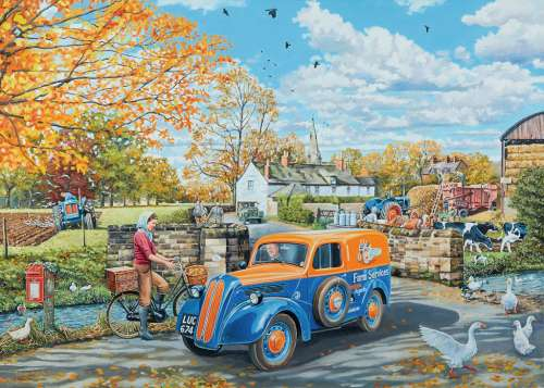 Farm Services (RB19578-7), a 1000 piece jigsaw puzzle by Ravensburger. Click to view larger image.