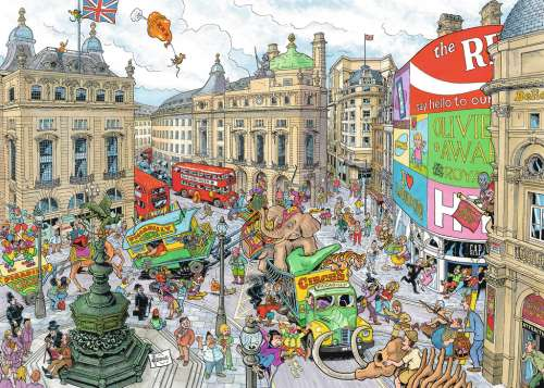 London by Fleroux (RB19213-7), a 1000 piece jigsaw puzzle by Ravensburger. Click to view larger image.