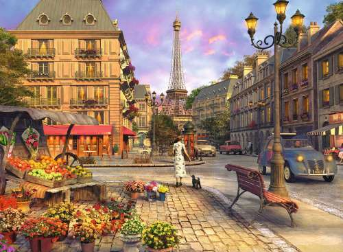 Vintage Paris (RB14683-3), a 500 piece jigsaw puzzle by Ravensburger. Click to view larger image.