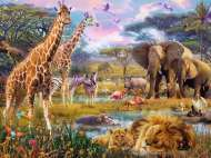 Africa (RB16333-5), a 1500 piece jigsaw puzzle by Ravensburger. Click to view this jigsaw puzzle.