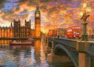 Westminster Sunset, London (RB19591-6), a 1000 piece Ravensburger jigsaw puzzle.