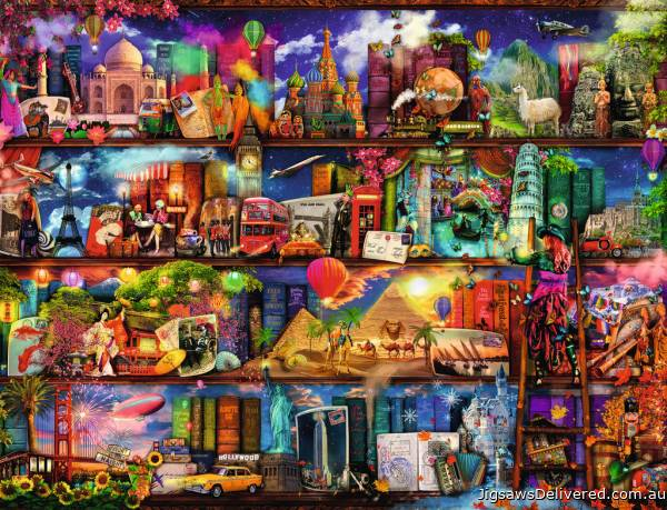 World of Books (RB16685-5), a 2000 piece jigsaw puzzle by Ravensburger.