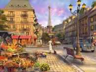 Vintage Paris  (RB16309-0), a 1500 piece jigsaw puzzle by Ravensburger and artist Dominic Davision. Click to view this jigsaw puzzle.