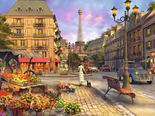 Vintage Paris (RB16309-0), a 1500 piece jigsaw puzzle by Ravensburger. Click to view larger image.