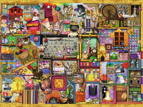 The Craft Shop (RB16312-0), a 1500 piece jigsaw puzzle by Ravensburger. Click to view larger image.