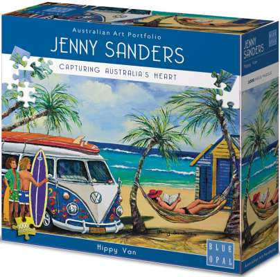 Hippy Van (BL01901), a 1000 piece jigsaw puzzle by Blue Opal. Click to view larger image.