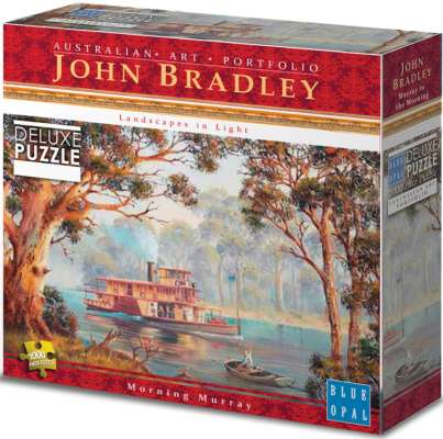 Morning Murray (BL01914), a 1000 piece jigsaw puzzle by Blue Opal. Click to view larger image.