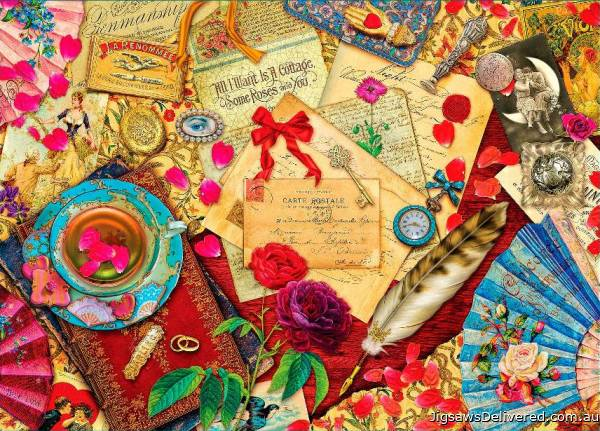Love Letters (Treats & Treasures) (HOL097180), a 1000 piece jigsaw puzzle by Holdson.