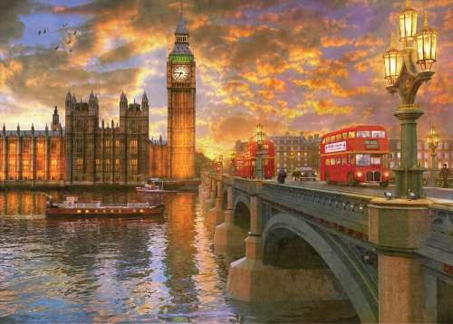 Westminster (Sunsets) (HOL097272), a 1000 piece jigsaw puzzle by Holdson. Click to view larger image.